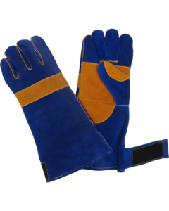 BLUEWELD Blue/Gold Welding Glove With Velcro Strap