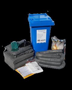 IN2SAFE Universal Spill Kit - 120L Mobile (Wheelie Bin)
