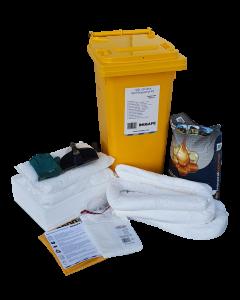 IN2SAFE Oil Only Spill Kit - 120L Mobile (Wheelie Bin)