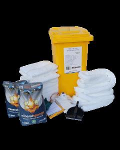 IN2SAFE Oil Only Spill Kit - 240L Mobile (Wheelie Bin)