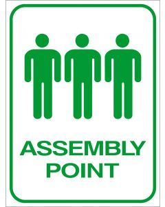 VF7500 - Assembly Point Sign (3 Figures)